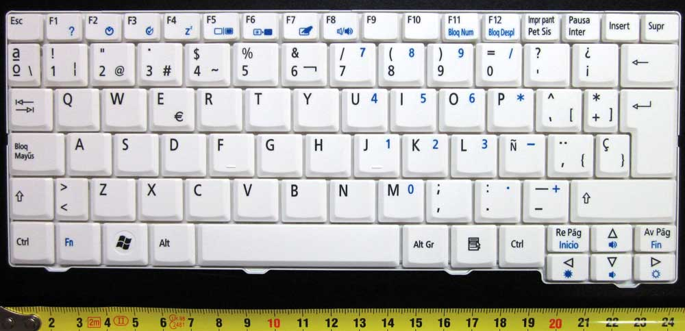 ACER KEYBOARD -WHITE/BLANCO-