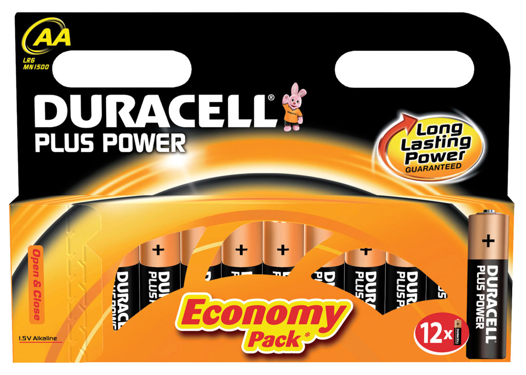 DURACELL PLUS AA PACK 12 UND