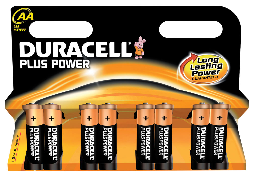DURACELL PLUS AA PACK 8 UND