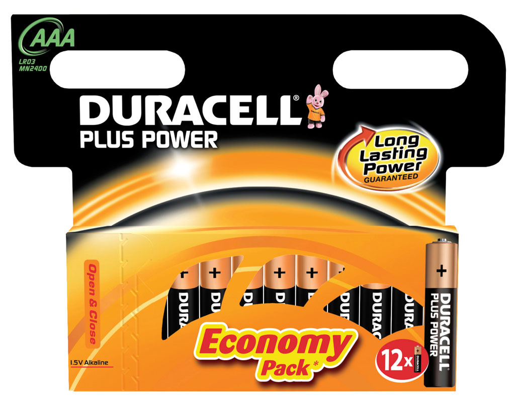 DURACELL  PLUS POWER 12UND AAA