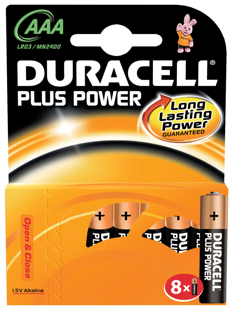 DURACELL PLUS POWER 8UND AAA