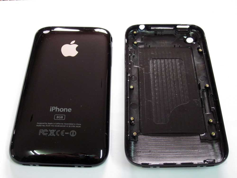 IPHONE 3G BACK COVER BLACK