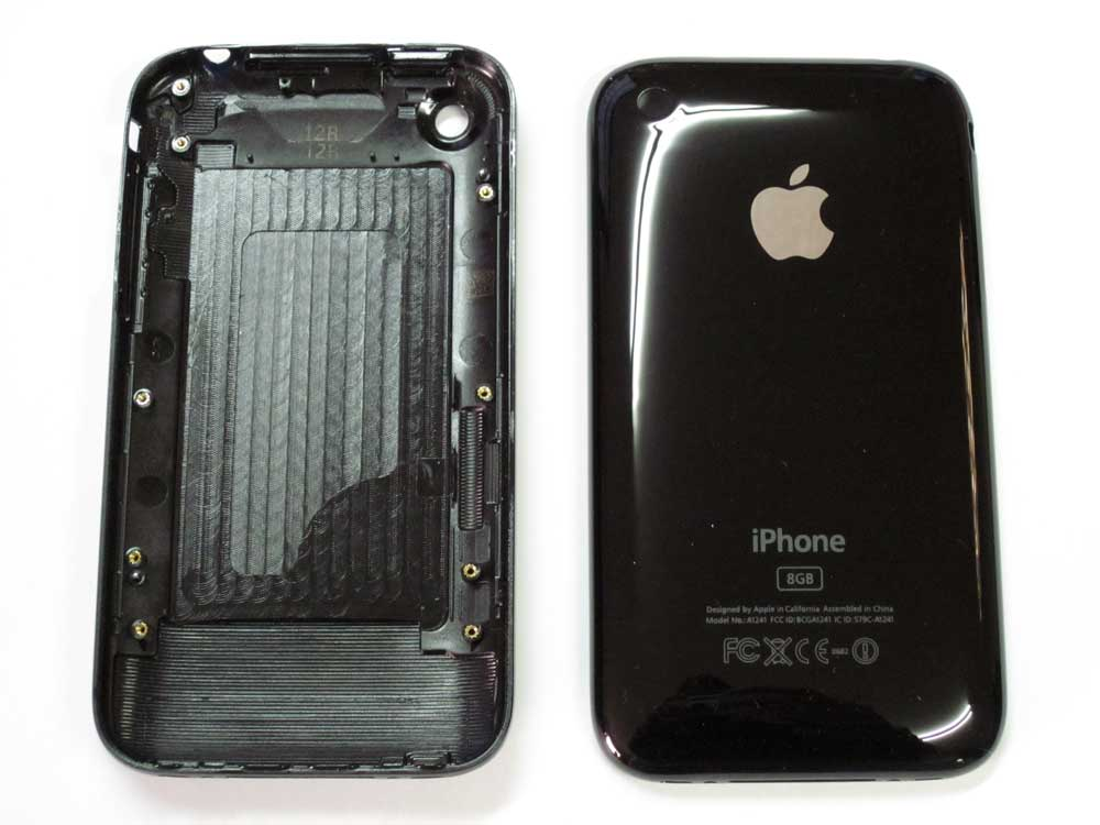IPHONE 3GS BACK COVER BLACK