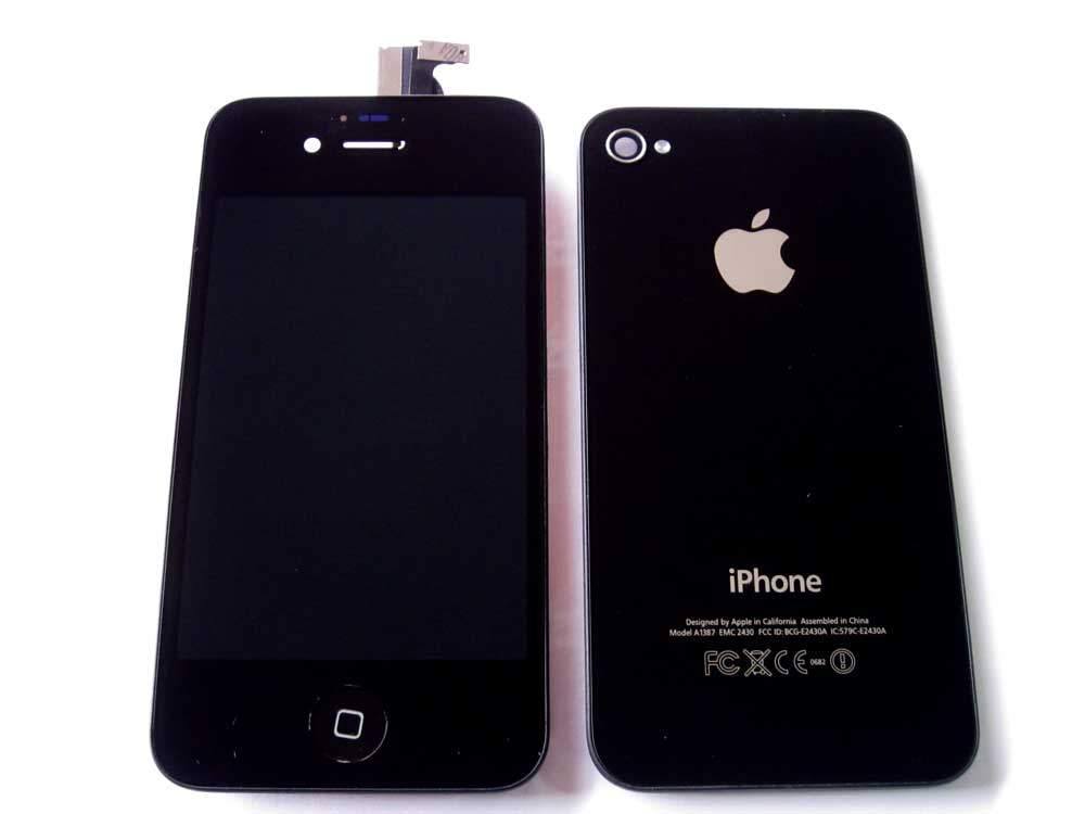 IPHONE 4S LCD+BACK COV+HOME