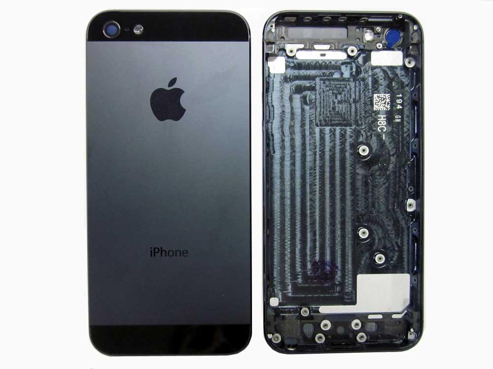 IPHONE 5 BACK COVER BLACK/NEGR