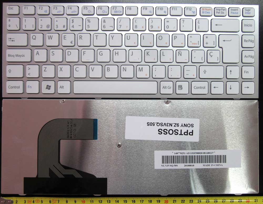 SONY KEYBOARD SILVER  S SERIES