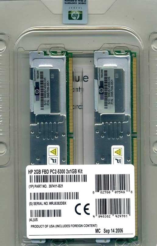 MEMORY COM 2GB Kit 397411-B21